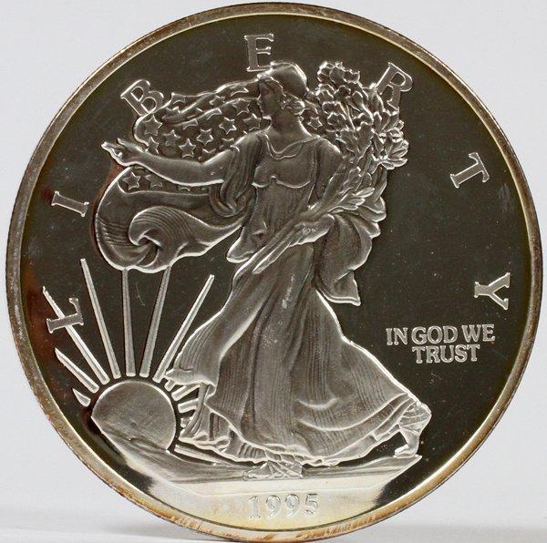 1 lb. .999 FINE SILVER US 1995 COIN
