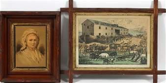 CURRIER & IVES, 'NOAH'S ARK' & A FRAME