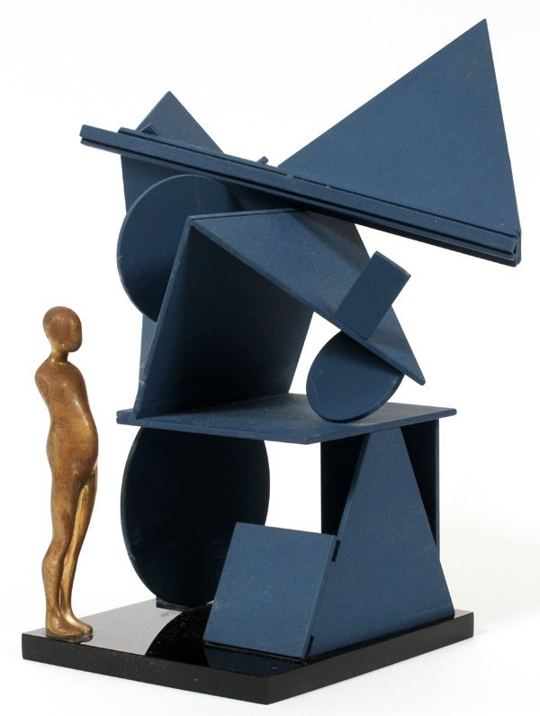 ERNEST TROVA COLD-ROLLED STEEL SCULPTURE PAINTED