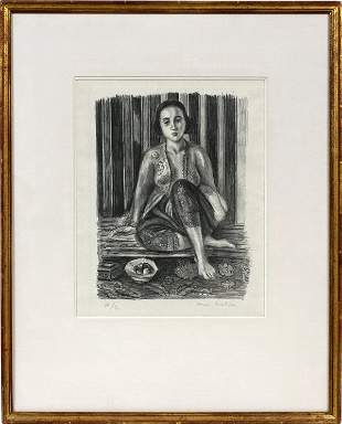 HENRI MATISSE FRENCH 1869-1954 LITHOGRAPH 1925