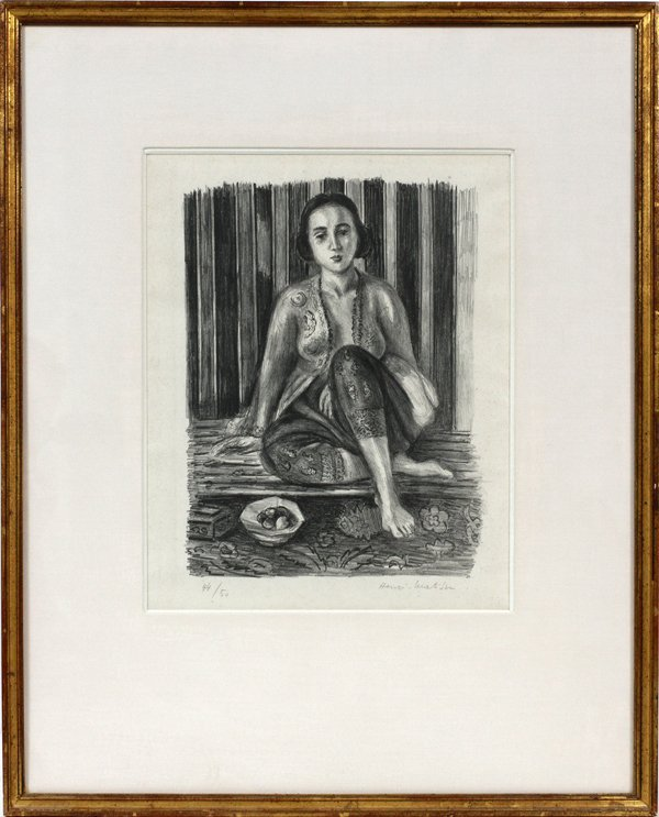 HENRI MATISSE FRENCH 1869-1954 LITHOGRAPH 1925