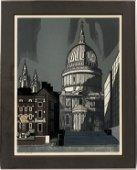 EDWARD BAWDEN LITHOGRAPH ON PAPER