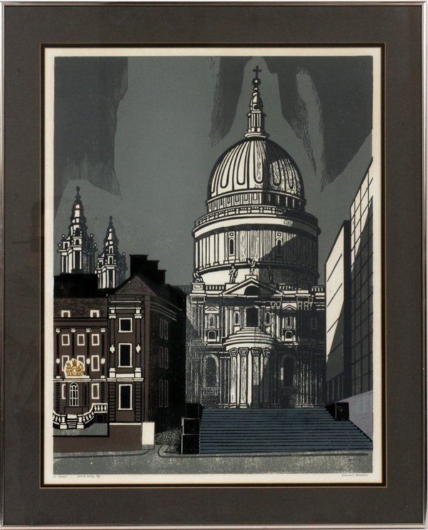 EDWARD BAWDEN LITHOGRAPH ON PAPER