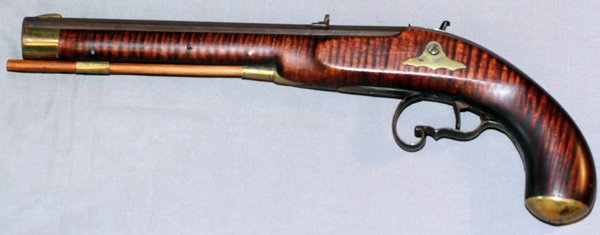 SINGLE SHOT KENTUCKY PERCUSSION PISTOL - 2