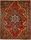 PERSIAN SAROUK WOOL RUG C.1900 X