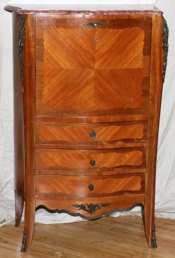 FRENCH MARQUETRY FALL-FRONT DESK