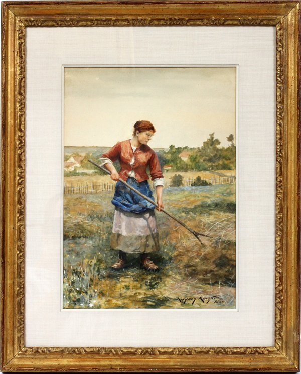 DANIEL RIDGWAY KNIGHT WATERCOLOR ON PAPER