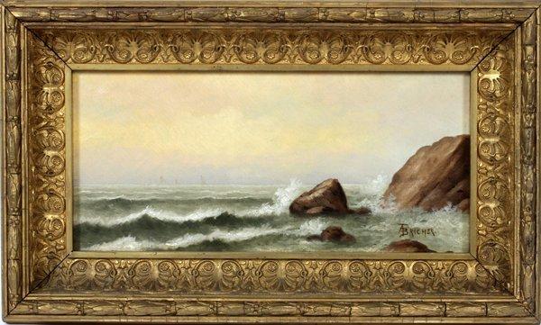 ALFRED THOMPSON BRICHER OIL/C, SEASCAPE