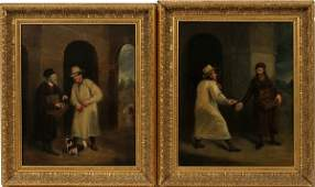 ENGLISH OILS ON CANVAS PAIR CA LATE 19TH C
