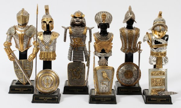 MINI SUITS OF ARMOR GREEK JAPANESE ROMAN EGYPTIAN