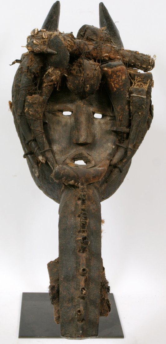 AFRICAN DAN TRIBE CARVED MASK