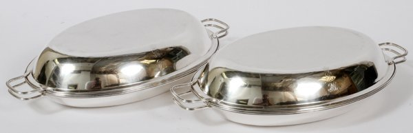GEORGE III STERLING COVERED ENTRÉE DISHES