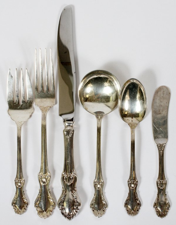 FRANK WHITING 'CONCORD' STERLING FLATWARE SET