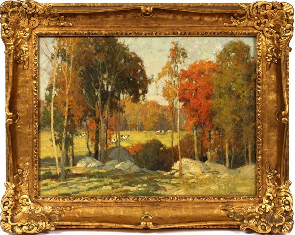 FREDERICK J. MULHAUPT OIL/C AN OCTOBER AFTERNOON