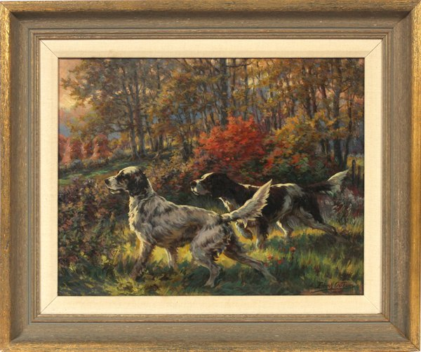EDMUND OSTHAUS OIL/C TWO SETTERS ON THE HUNT