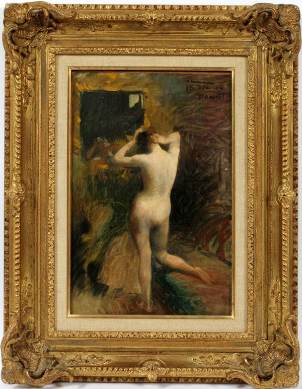 H. DOUCET OIL ON CANVAS,  NUDE