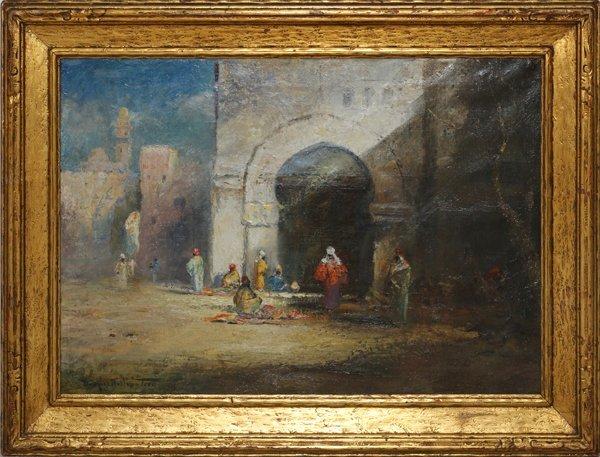 DOUGLAS ARTHUR TEED OIL 1923 ARAB SCENE BY ARCHWAY