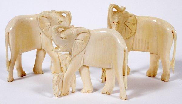 **NO ON-LINE BIDDING-AFRICAN CARVED IVORY ELEPHANT