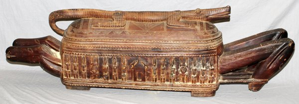AFRICAN DOGON CARVED CEREMONIAL TROUGH MALI