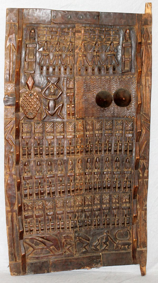 AFRICAN DOGON CARVED DOOR MALI