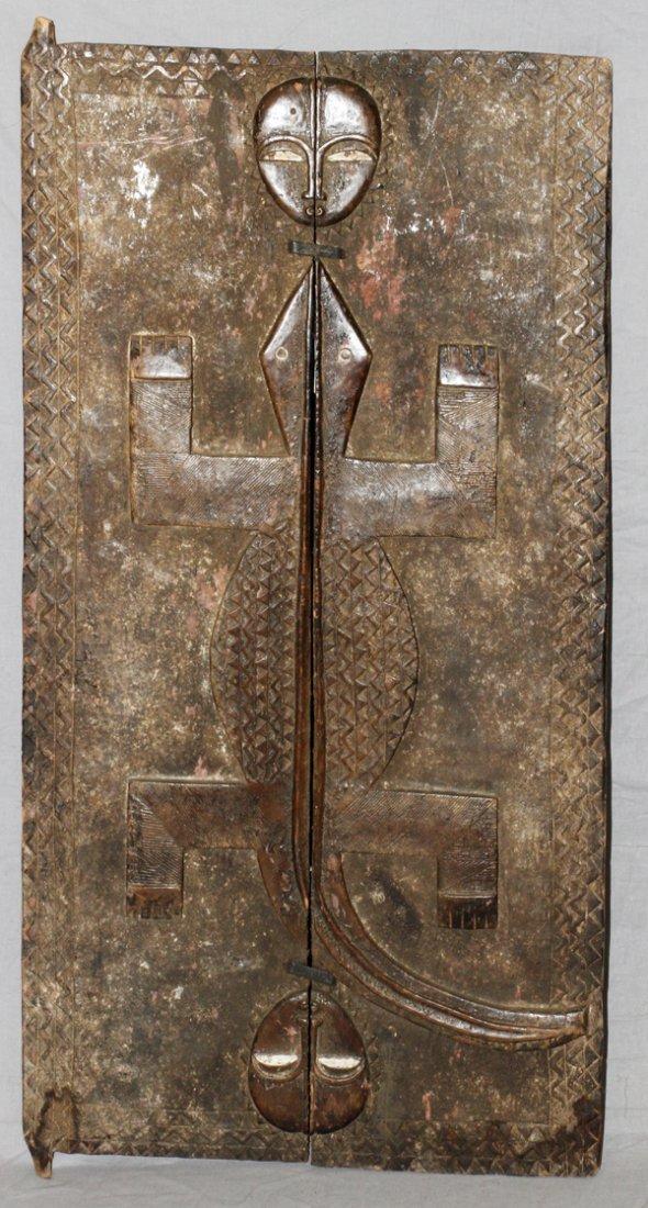 AFRICAN BAULE CARVED WOOD DOOR IVORY COAST