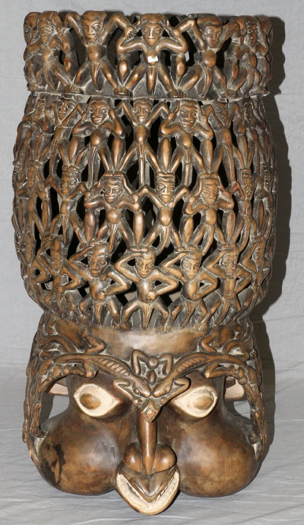 AFRICAN TRIBAL CARVED HEADPIECE