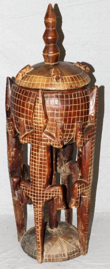 AFRICAN DOGON CARVED MEDICINE POT