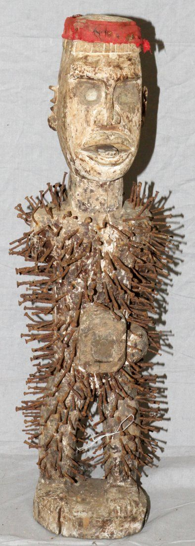 AFRICAN TRIBAL NAIL FETISH FIGURE