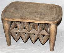 AFRICAN NUPE CARVED WOOD STOOL NIGERIA