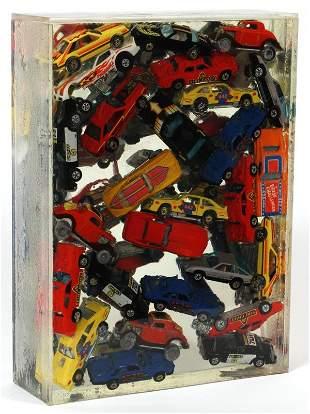 ARMAN HOT WHEELS TOY CAR SCULPTURE #27/75 1985.