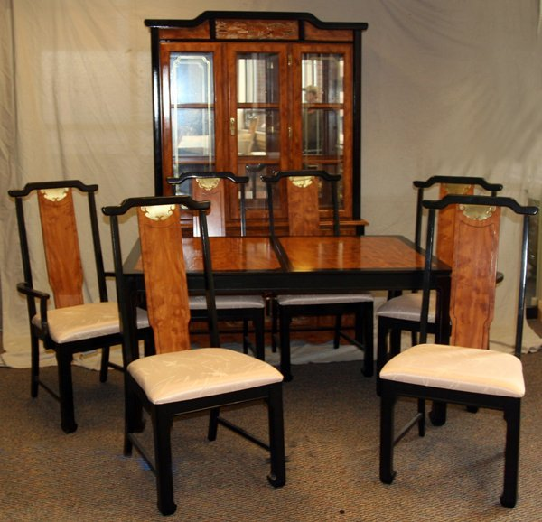 CHINESE STYLE DINING TABLE CHAIRS CHINA BUFFET, 11