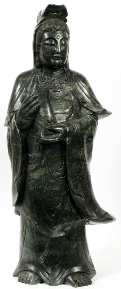 CHINESE NEPHRITE GUANYIN MAGNUM SIZE