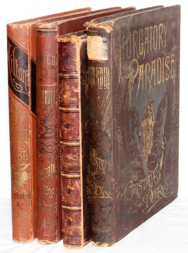 BOOKS ILLUSTRATED BY GUSTAVE DORE 19TH C. FOUR