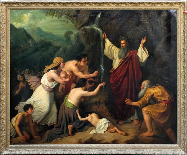 OLD MASTER OIL, MOSES DELIVERS WATER FROM THE ROCK