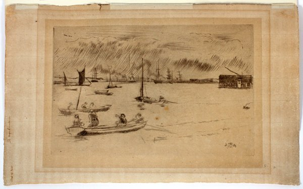 """JAMES A. MCNEILL WHISTLER DRYPOINT, """"GREENHITHE"""""""