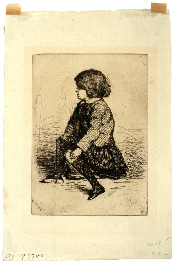 JAMES A. MCNEILL WHISTLER ETCHING, SEYMOUR
