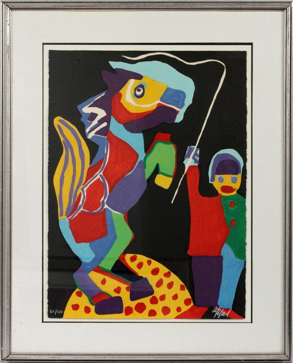 KAREL APPEL LITHOGRAPH, FROM CIRCUS SUITE