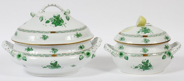 HEREND PORCELAIN SERVING DISHES 'CHINESE BANQUET'