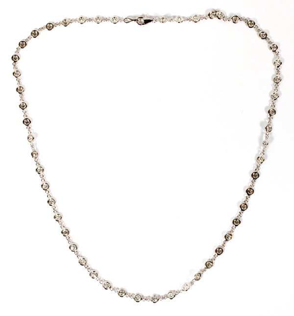 3.33CT DIAMOND YARD STATION CHAIN NECKLACE