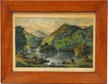 CURRIER  IVES LITHOGRAPH SYLAN LAKE