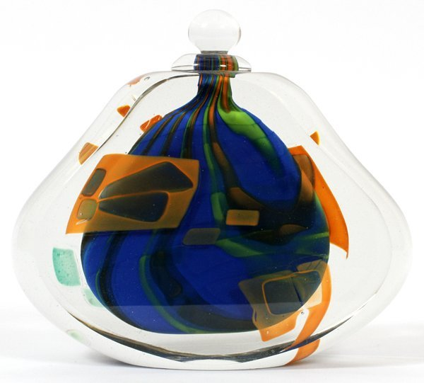 BRENT KEE YOUNG GLASS PERFUME BOTTLE 1981