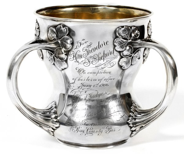GORHAM STERLING LOVING CUP INSCRIBED & DATED 1906
