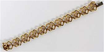 HENRY DUNAY 18KT YELLOW GOLD  DIAMOND BRACELET