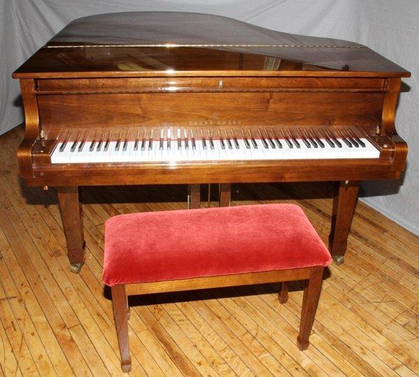 YOUNG CHANG MAHOGANY PIANO MODEL G175 W/ BENCH
