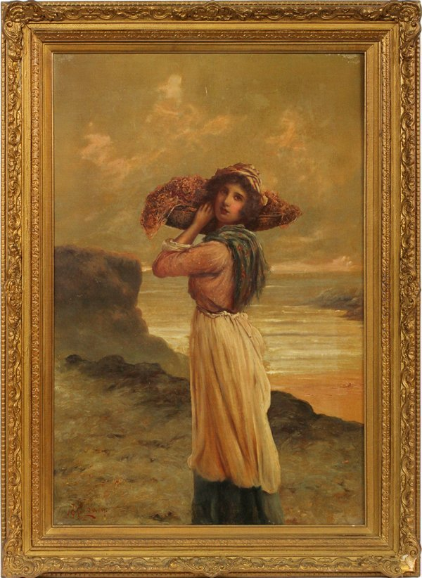 AFTER J.M. COLVIN, OIL ON CANVAS, 19TH C.