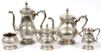 ROGERS STERLING TEA  COFFEE SET FIVE PIECES