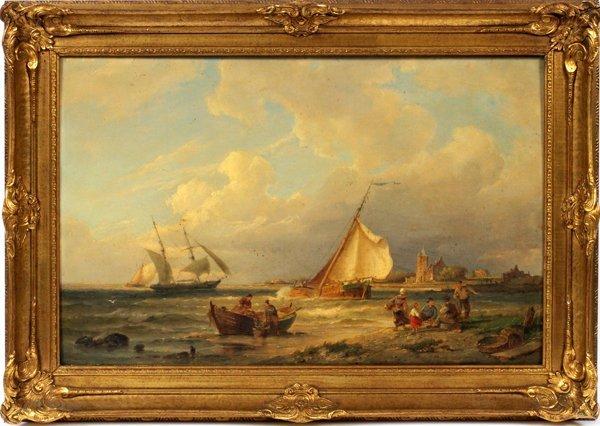 PIETER CHRISTIAN DOMMERSEN OIL WOOD PANEL 1885
