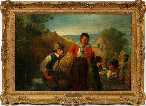 ERSKINE E. NICOL R.A. OIL ON CANVAS 1871