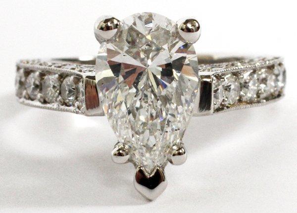 2 CT. DIAMOND AND PLATINUM ENGAGEMENT RING GIA