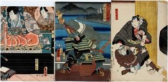 JAPANESE UKIYOE WOODBLOCK PRINTS DIFFERENT ARTISTS